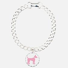 dog pink 2 Bracelet