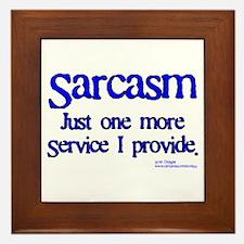 Sarcasm Framed Tile