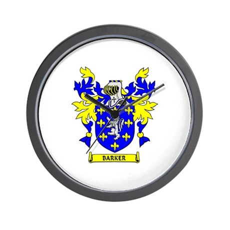 BARKER Coat of Arms Wall Clock