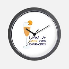Lady Brunches Wall Clock