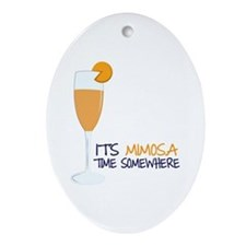 Mimosa Time Ornament (Oval)