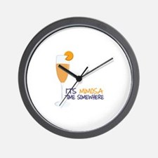 Mimosa Time Wall Clock
