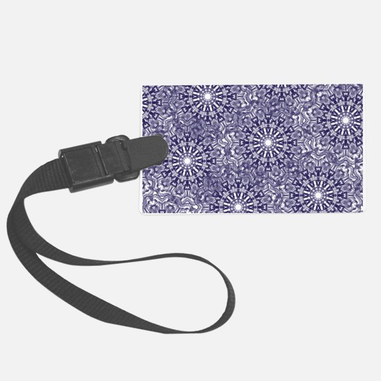 Blue Lace Luggage Tag
