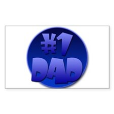 #1 Dad. Rectangle Decal