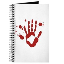 Bloody Hand Print Halloween Journal