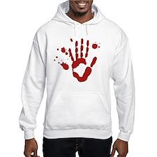 Bloody Hand Print Halloween Hoodie