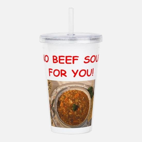 beef soup Acrylic Double-wall Tumbler