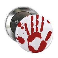 "Bloody Hand Print Halloween 2.25"" Button (10 pack)"