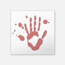 Bloody Hand Print Halloween Sticker