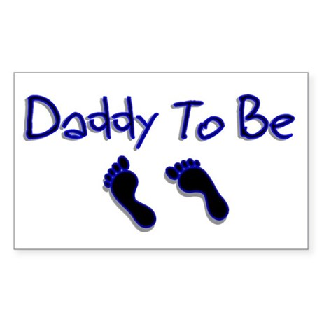 Daddy To Be Rectangle Sticker