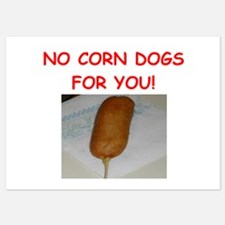 corn dogs Invitations