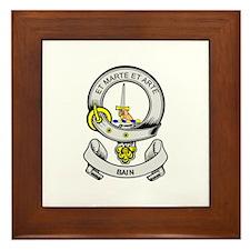 BAIN Coat of Arms Framed Tile
