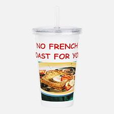 french toast Acrylic Double-wall Tumbler