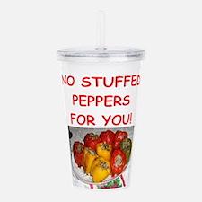 stuffed peppers Acrylic Double-wall Tumbler