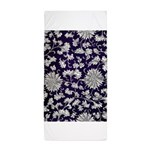 Abstract Whimsical Flowers Beach Towel