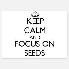 Keep Calm and focus on Seeds Invitations