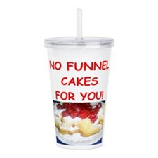 funnel cakes Acrylic Double-wall Tumbler