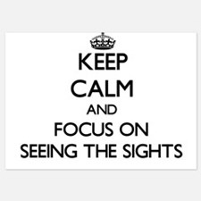 Keep Calm and focus on Seeing The Sigh Invitations