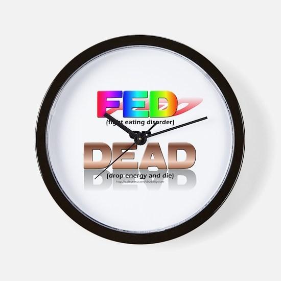 FED or DEAD Wall Clock