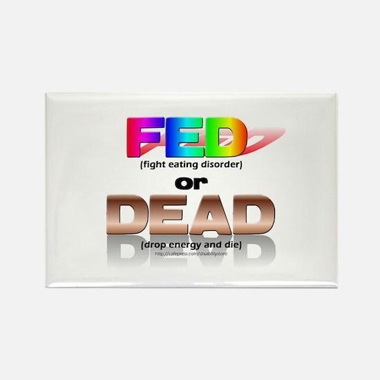 FED or DEAD Rectangle Magnet