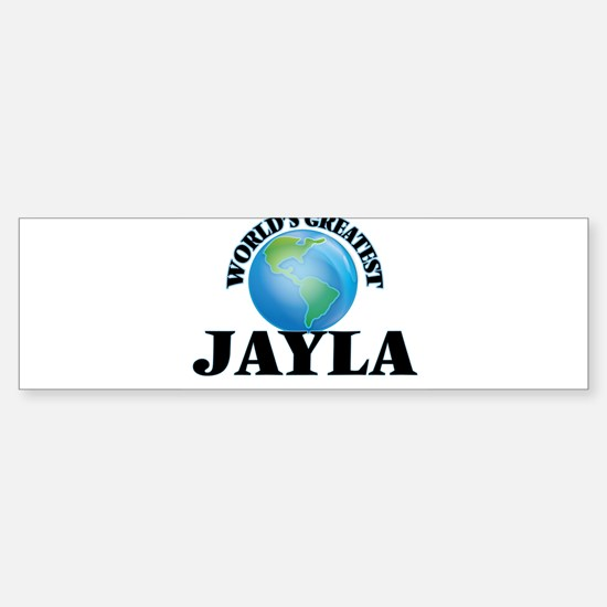World's Greatest Jayla Bumper Car Car Sticker