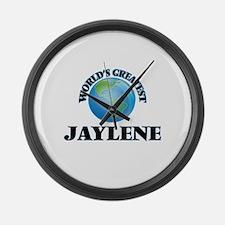 World's Greatest Jaylene Large Wall Clock