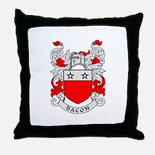 BACON 2 Coat of Arms Throw Pillow