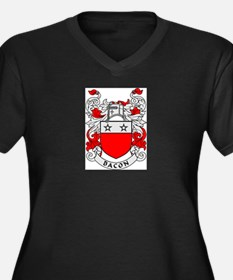 BACON 2 Coat of Arms Women's Plus Size V-Neck Dark