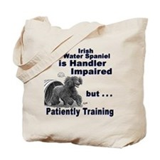 Irish Water Spaniel Agility Tote Bag