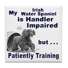Irish Water Spaniel Agility Tile Coaster