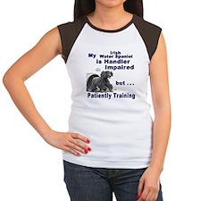 Irish Water Spaniel Agility Women's Cap Sleeve T-S