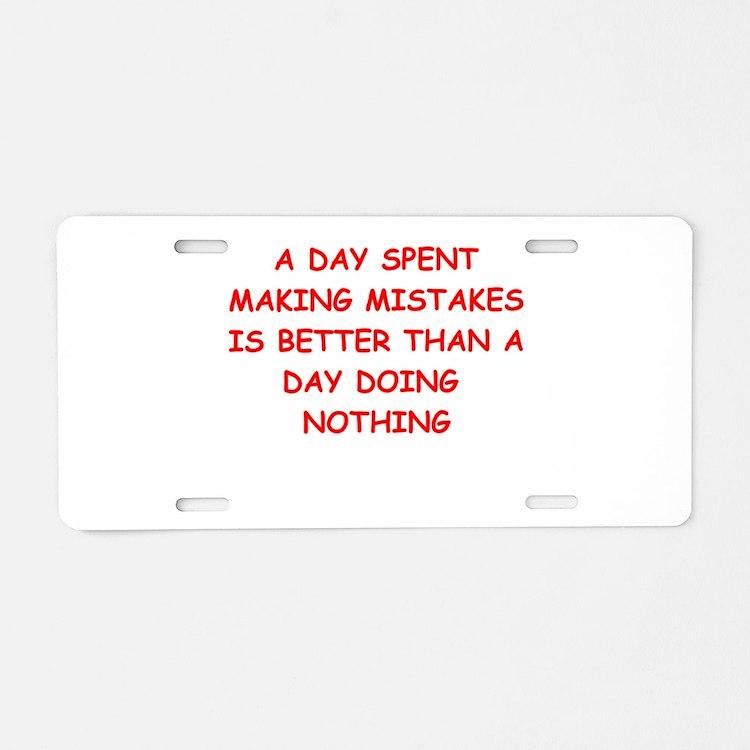 success Aluminum License Plate
