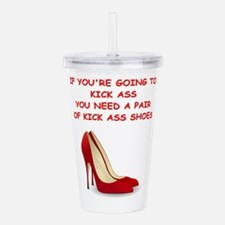 red high heels Acrylic Double-wall Tumbler