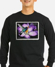 Hummingbird stamp Long Sleeve T-Shirt
