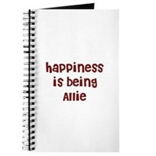 happiness is being Allie Journal