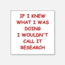 "research Square Sticker 3"" x 3"""