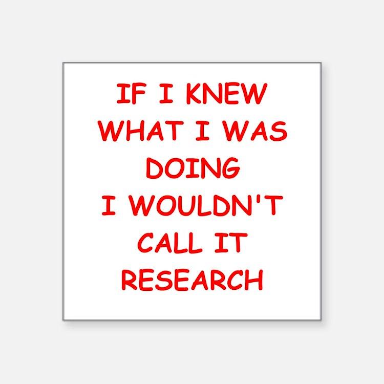 """research Square Sticker 3"""" x 3"""""""
