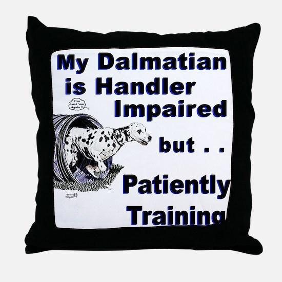 Dalmatian Agility Throw Pillow