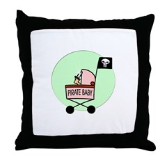 Pirate Baby Throw Pillow