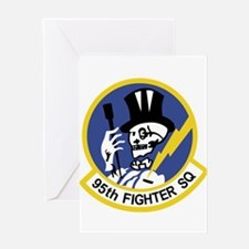 95th_fs_patch Greeting Cards