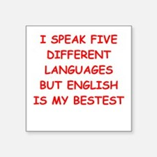 """english Square Sticker 3"""" x 3"""""""