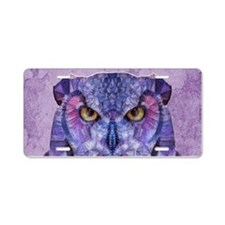 Cute Owl Aluminum License Plate