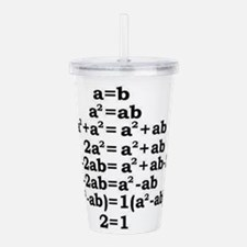 math genius Acrylic Double-wall Tumbler