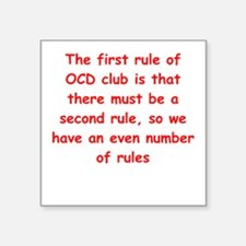 "ocd Square Sticker 3"" x 3"""