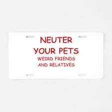 pets Aluminum License Plate