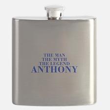 The Man Myth Legend ANTHONY-bod blue Flask