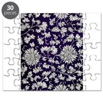 Abstract Whimsical Flowers Puzzle