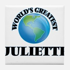 World's Greatest Juliette Tile Coaster