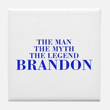 The Man Myth Legend BRANDON-bod blue Tile Coaster
