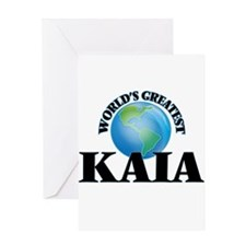 World's Greatest Kaia Greeting Cards